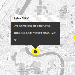 plan de localisation du labo NRV sur la carte Makery